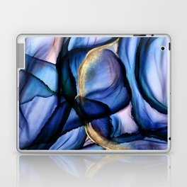 Mesmerize - Indigo, Cerulean, and Pale Pink Abstract Laptop & iPad Skin