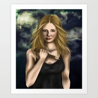 buffy Art Prints featuring Buffy Summers by Jade Todd