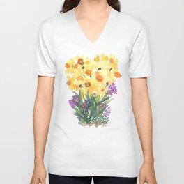 Spring Daffodil Patch Unisex V-Neck