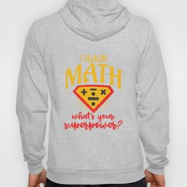 Funny Distressed Retro Vintage Math Superpower Hoody