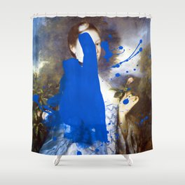 Blue Bomb Shower Curtain