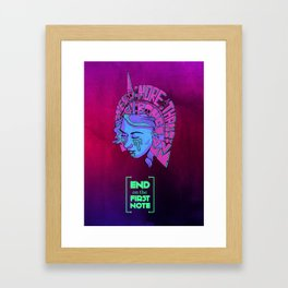 End on the First Note - Something More Than Flesh and Bone Framed Art Print