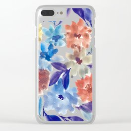 hand painted flowers_3c Clear iPhone Case