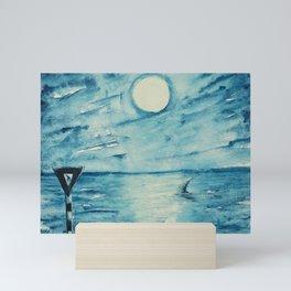 Shark sign Mini Art Print