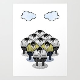 TWO GATHER WITH CLOUDS Art Print