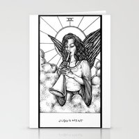 tarot Stationery Cards featuring Judgement Tarot by Corinne Elyse