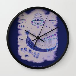 Comet Procession Wall Clock