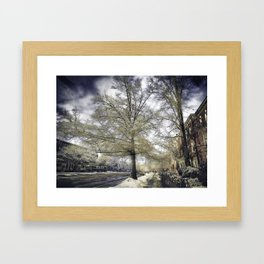 Brookline, MA. Just another winter day. Framed Art Print