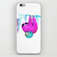 sloths iPhone & iPod Skins featuring Sloths by Annya Kai