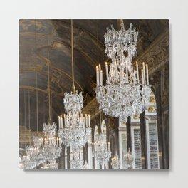 Versailles Chandelier Metal Print
