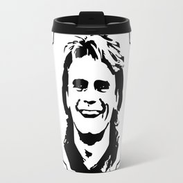 """MacGyver quote: """"If this works, it'll keep us from getting caught...."""" Travel Mug"""