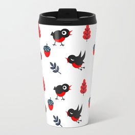 Bullfinch Pattern Travel Mug