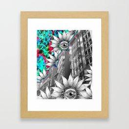 NYC Flower Escapes Framed Art Print