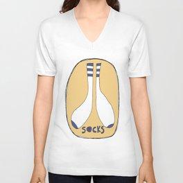 Socks Unisex V-Neck