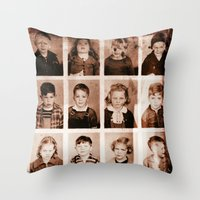 oakland Throw Pillows featuring Oakland First Grade Class 1940 by Sue VanHorsen