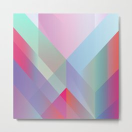 Colored layers overlapped. Metal Print