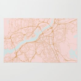Gothenburg map, Sweden Rug