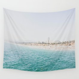 Santa Monica Beach MINT Wall Tapestry
