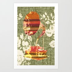 Dueling Phonographs II Art Print