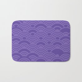 Ultra Violet Color of the Year 2018 Seigaiha seigainami wave of the sea abstract scales Bath Mat