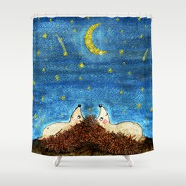 falling stars Shower Curtain