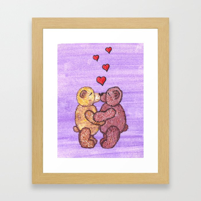 Bears in love Framed Art Print