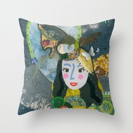 Paper Dollies - Freya Throw Pillow
