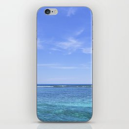 Whispy Clouds and Whitecaps - Tropical Horizons Series iPhone Skin