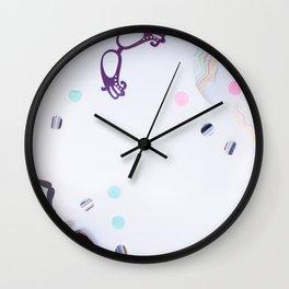 carnival flatlay Wall Clock