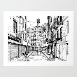 Concrete Jungle (BW) Art Print