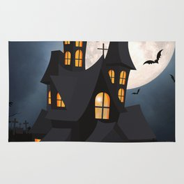 Halloween, House of Horrors, Haunted Mansion Rug