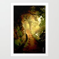 fairytale Art Prints featuring Fairytale by Nev3r
