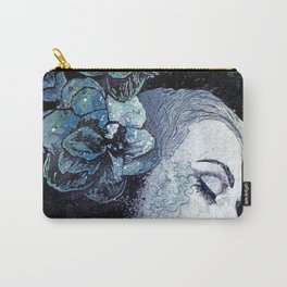 Obey Me: Blue (graffiti flower woman portrait) Carry-All Pouch