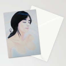 Re-Created Girl in Bath by Robert S. Lee Stationery Cards