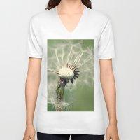 dandelion V-neck T-shirts featuring Dandelion by Falko Follert Art-FF77