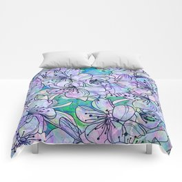 Over and Over Flowers Comforters