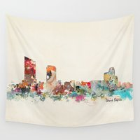 michigan Wall Tapestries featuring grand rapids michigan by bri.buckley