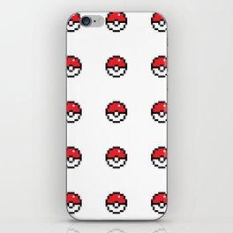 Pixel Pokeball iPhone Skin