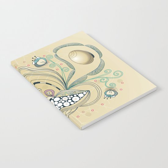 Beige tangle of joy and vibrant nature Notebook