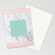 Marble with Pastels /// www.pencilmeinstationery.com Stationery Cards