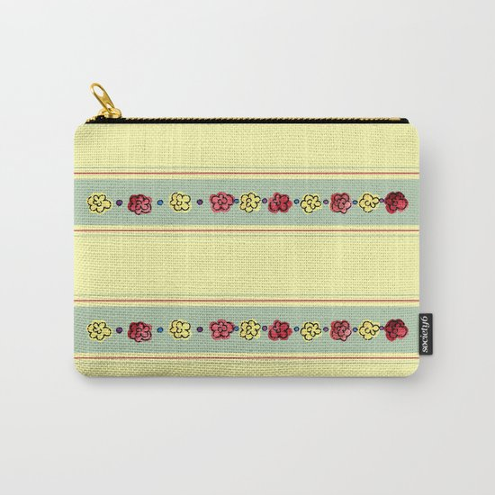 A Rosey Outlook Yellow Carry-All Pouch