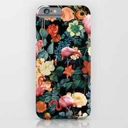 Floral and Flemingo II Pattern iPhone Case