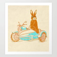 potter Art Prints featuring Hare Potter by Rodrigo Ferreira