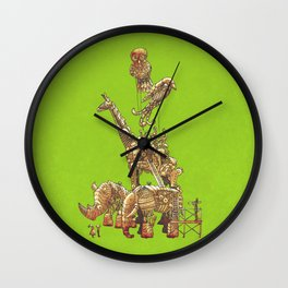 The Clockwork Menagerie (Lime) Wall Clock