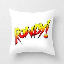 Rowdy Ronda Rousey Throw Pillow