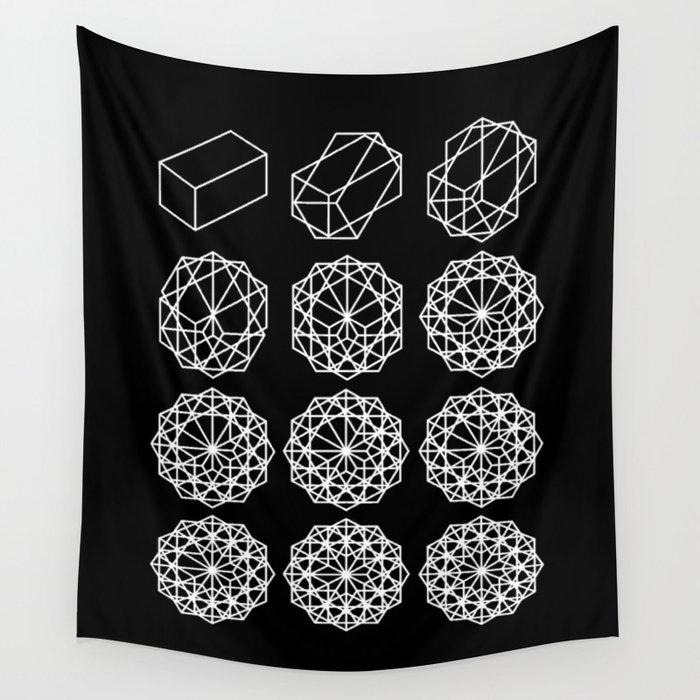 E by design Original Geometric Print Tapestry 80 x 60 Blue