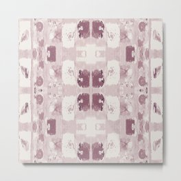 Powdery Ikat Metal Print