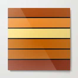 Golden Brown Stripes Metal Print