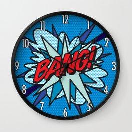 Comic Book Pop Art BANG Wall Clock