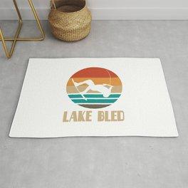 Lake Bled  TShirt Wakeboarding Shirt Wakeboarder Gift Idea  Rug